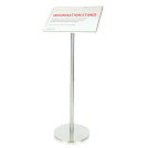 "Stand and 11 x 17"" signage plate sold separately."