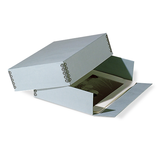 Gaylord Archival® DocuDry™ E-flute Drop-Front Deep Lid Print Box