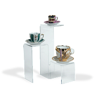Jule-Art Acrylic 3-Tiered Platform Display Riser