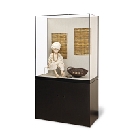 Gaylord® Metro™ Empire Freestanding Museum Wall Case with UV Acrylic