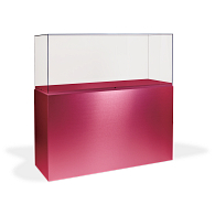 Gaylord Archival® Jewell™ Painted Rectangular Pedestal Exhibit Case with UV Acrylic