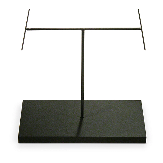 Black Acrylic Base Metal H-Arm Armature Holder