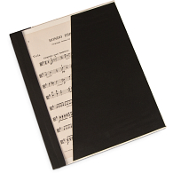 "Gaylord® Classic™ 1/4"" Double Cloth Spine Sew or Staple Music Binder with Clear Cover & Diagonal Pocket"