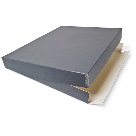 Gaylord Archival® Blue/Grey Drop-Front Oversize Print Box with DuraCoat™ Acrylic Coating