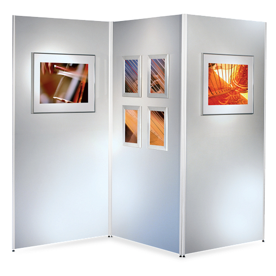 Scenario® Series 500 Movable 3-Wall Display System