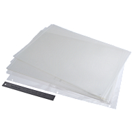 Gaylord Archival® 3 mil Archival Polyester Page Protectors for Post-Bound Quarterbound Oversize Scrapbooks (25-Pack)