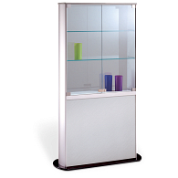 Peter Pepper Products PepperMint® Elliptical Profile Panel Base Exhibit Case with Aluminum Top