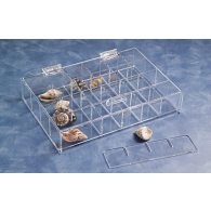 Jule-Art Small Adjustable Acrylic Specimen Tray with Lid