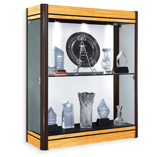 Waddell Contempo Wall-Mount Exhibit Case with White Back