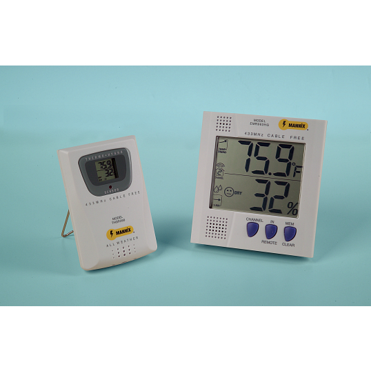 General Tools Wireless Thermohygrometer with Remote Sensor