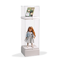 Gaylord® Jewell™ Paintable Double Decker Exhibit Case