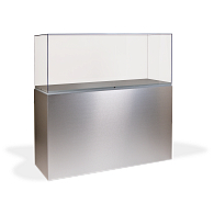Gaylord Archival® Jewell™ Laminate Rectangular Pedestal Exhibit Case with UV Acrylic