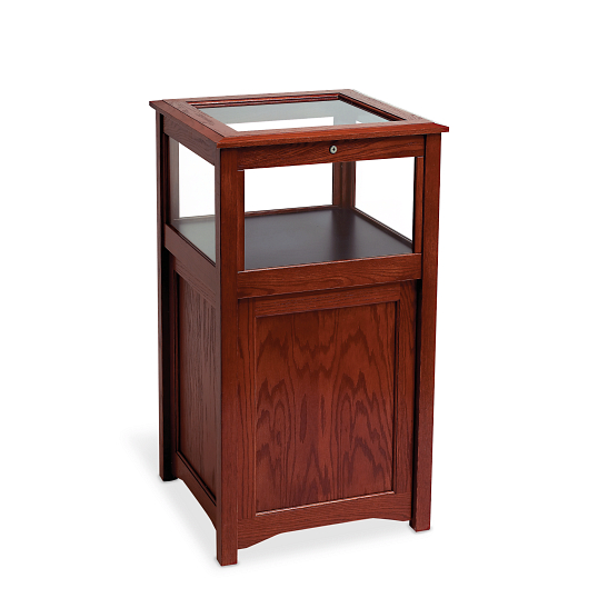 Gaylord® Eastwood™ Locking Cabinet Base Exhibit Case with LED Lighting