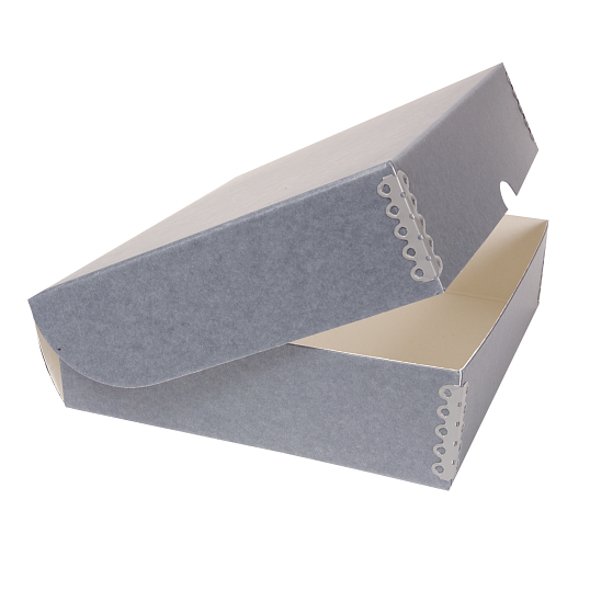 Gaylord Archival® Blue/Grey Barrier Board Clamshell Box