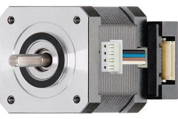 drylin® E stepper motor with stranded wire, NEMA 17 with space-saving incremental rotary encoder