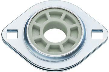 Fixed flange bearings with 2 mounting holes, PFL, J4EM, igubal®
