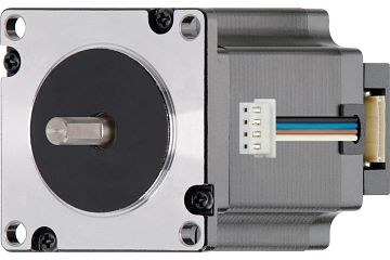 drylin® E stepper motor with stranded wire, NEMA 23 with space-saving incremental rotary encoder