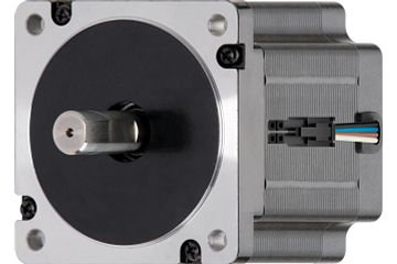 drylin® E stepper motor with stranded wire, NEMA 34 with space-saving incremental rotary encoder