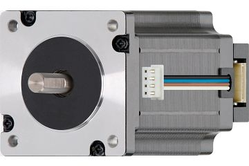 drylin® E stepper motor with stranded wire, NEMA 24 with space-saving incremental rotary encoder
