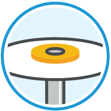 OptiDisc: patented mandrel