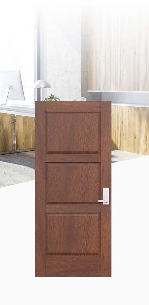 Select an acoustic-rated door that increases productivity while elevating the workspace.
