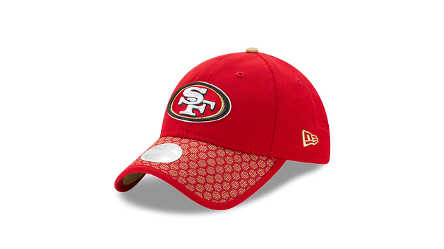 WOMENS SAN FRANCISCO 49ERS OFFICIAL SIDELINE 9TWENTY ADJUSTABLE 3 quarter left view