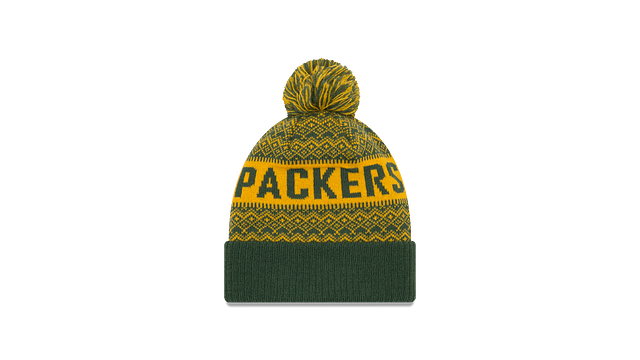 GREEN BAY PACKERS WINTRY POM KNIT Rear view