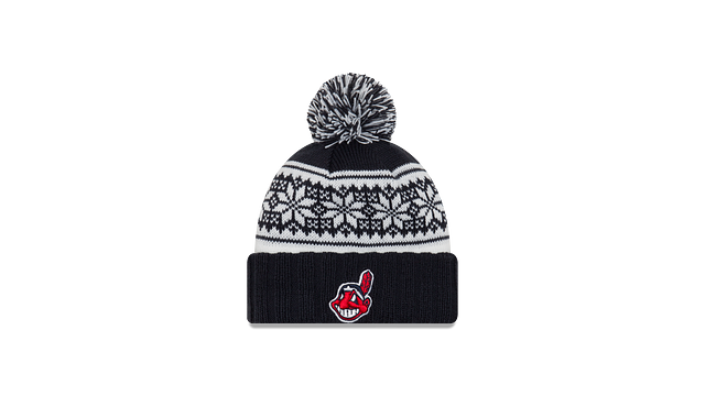 WOMENS CLEVELAND INDIANS SNOWY POM KNIT