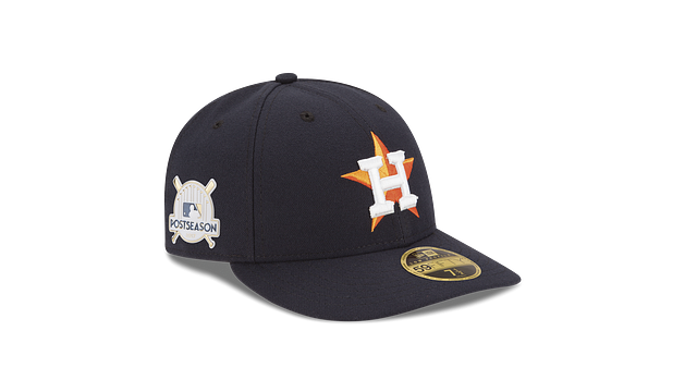 HOUSTON ASTROS POSTSEASON SIDE PATCH AC LOW PROFILE 59FIFTY FITTED