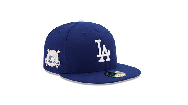 LOS ANGELES DODGERS POSTSEASON SIDE PATCH AC 59FIFTY FITTED