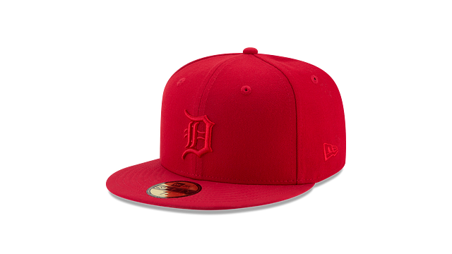 DETROIT TIGERS SCARLET NUBUCK 59FIFTY FITTED