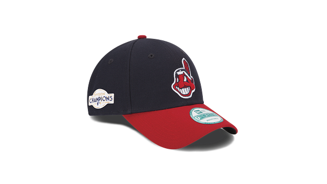 KIDS CLEVELAND INDIANS DIVISION CHAMPIONS SIDE PATCH 9FORTY ADJUSTABLE