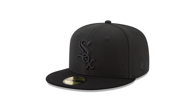 CHICAGO WHITE SOX BLACK NUBUCK 59FIFTY FITTED