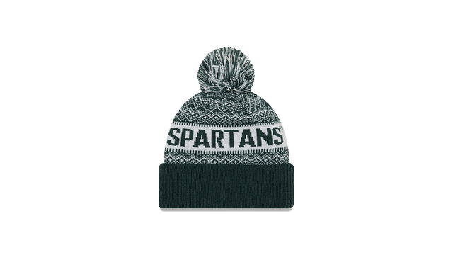 MICHIGAN STATE SPARTANS WINTRY POM KNIT Rear view