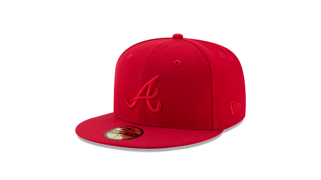 ATLANTA BRAVES SCARLET NUBUCK 59FIFTY FITTED