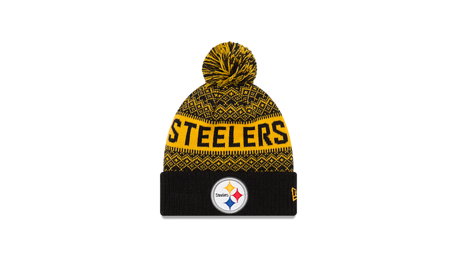 PITTSBURGH STEELERS WINTRY POM KNIT Front view