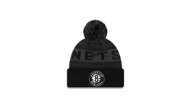 BROOKLYN NETS WINTRY POM KNIT Front view