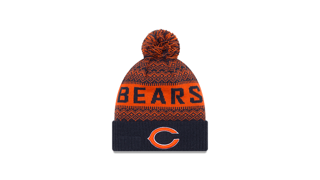 CHICAGO BEARS WINTRY POM KNIT Front view