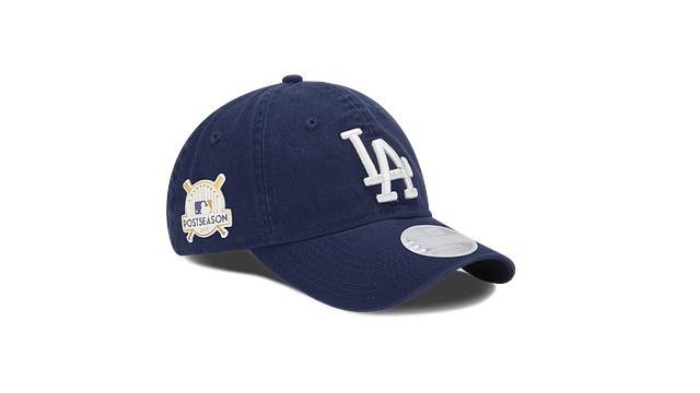 WOMENS LOS ANGELES DODGERS POSTSEASON SIDE PATCH 9TWENTY ADJUSTABLE 3 quarter right view