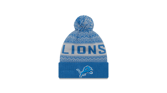 DETROIT LIONS WINTRY POM KNIT Front view