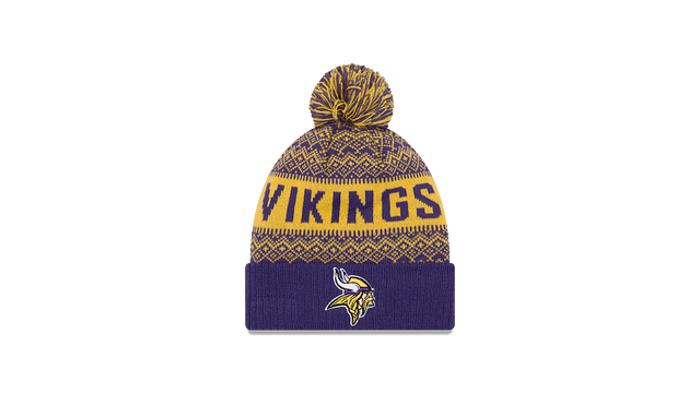 MINNESOTA VIKINGS WINTRY POM KNIT 3 quarter left view
