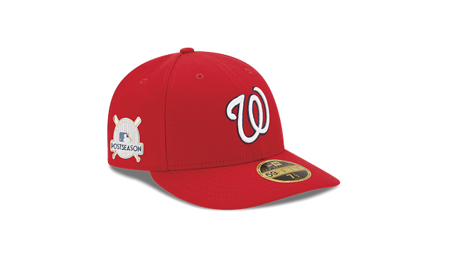 WASHINGTON NATIONALS POSTSEASON SIDE PATCH AC LOW PROFILE 59FIFTY FITTED