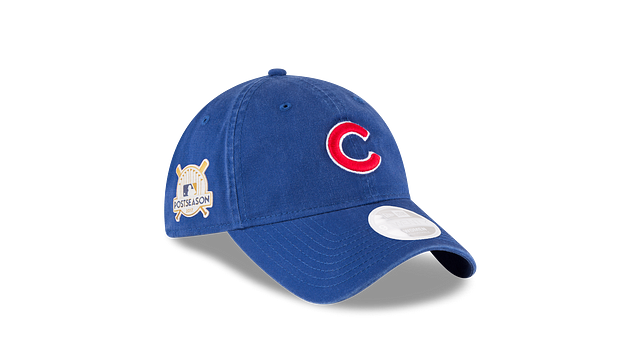 WOMENS CHICAGO CUBS POSTSEASON SIDE PATCH 9TWENTY ADJUSTABLE 3 quarter right view