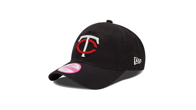WOMENS MINNESOTA TWINS POSTSEASON SIDE PATCH 9TWENTY ADJUSTABLE 3 quarter left view