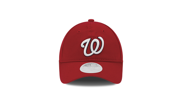WOMENS WASHINGTON NATIONALS POSTSEASON SIDE PATCH 9TWENTY ADJUSTABLE Front view
