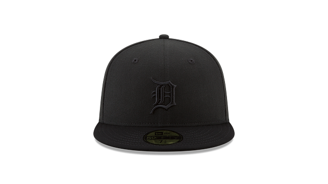 DETROIT TIGERS BLACK NUBUCK 59FIFTY FITTED