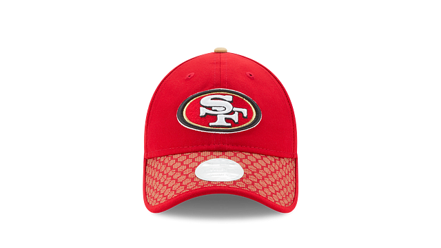 WOMENS SAN FRANCISCO 49ERS OFFICIAL SIDELINE 9TWENTY ADJUSTABLE Front view
