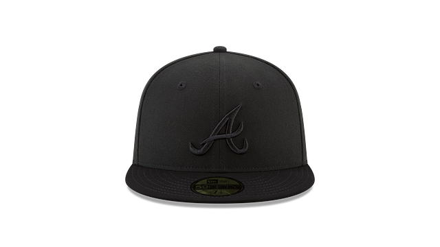 ATLANTA BRAVES BLACK NUBUCK 59FIFTY FITTED