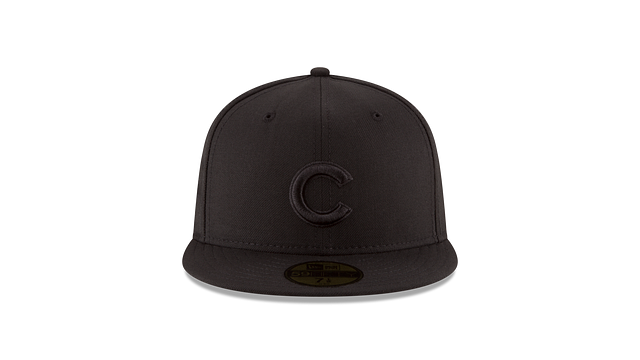 CHICAGO CUBS BLACK ON BLACK 59FIFTY FITTED