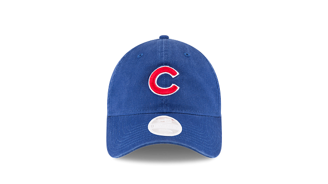 WOMENS CHICAGO CUBS POSTSEASON SIDE PATCH 9TWENTY ADJUSTABLE Front view